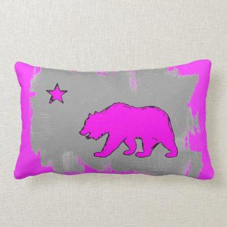 Almohada rosada de neón de la decoración del oso d
