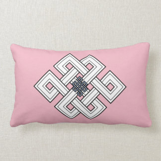Almohada rosada del Lumbar del nudo