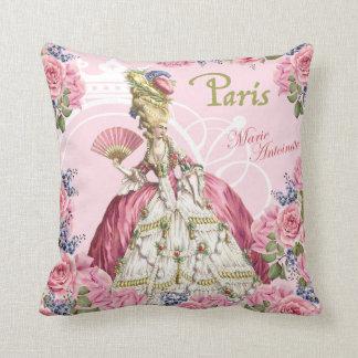 Almohada rosada del marco de los rosas de Marie