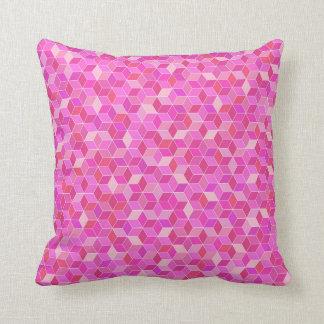 almohada rosada geométrica digital moderna