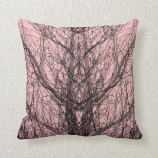 Almohada rosada gris abstracta del arte moderno de