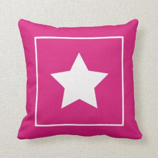Almohada rosada y blanca oscura patriótica de la