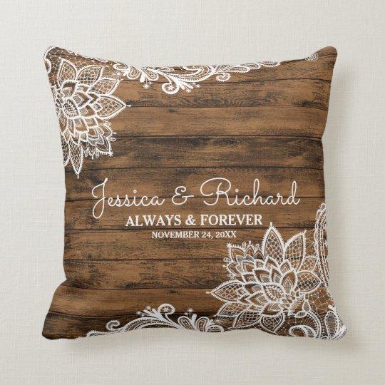Almohada rústica de madera del granero y del boda