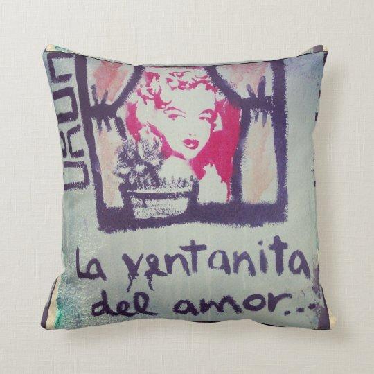 Almohada street art la ventanita del amor