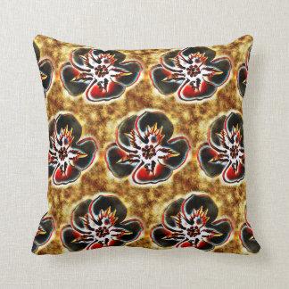 Almohada texturizada impresión floral abstracta de cojín decorativo