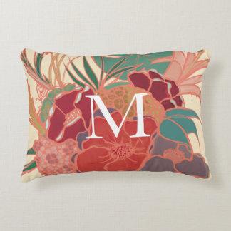 Almohada tropical floral personalizada del