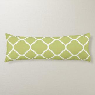 Almohada verde chartreuse moderna del cuerpo de