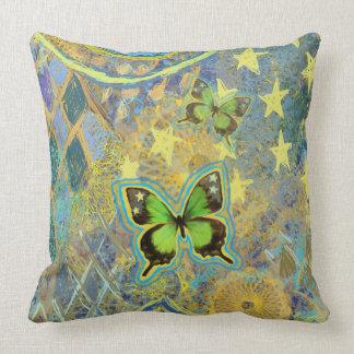 Almohada verde del sueño de la mariposa