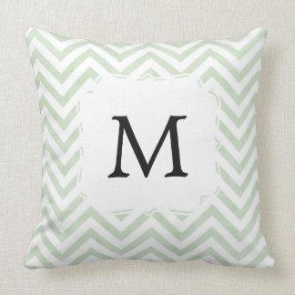 Almohada verde personalizada con la letra