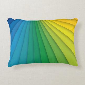 Almohada vibrante del arco iris de los colores