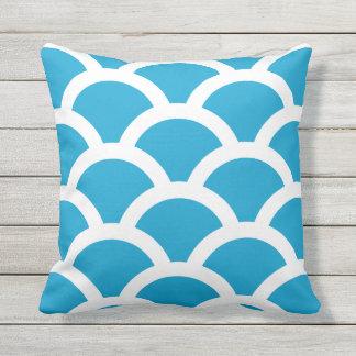 Almohadas al aire libre azules de la isla - modelo