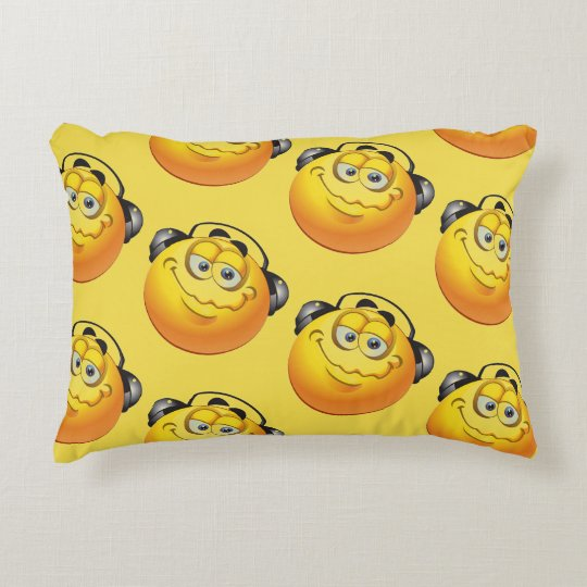 Almohadas cepilladas amarillo del acento de