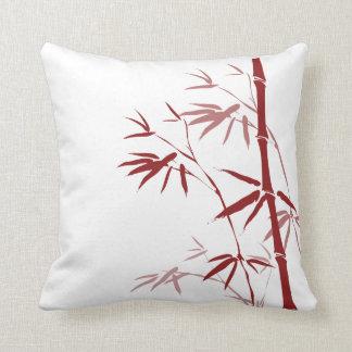 Almohadas de bambú rojas