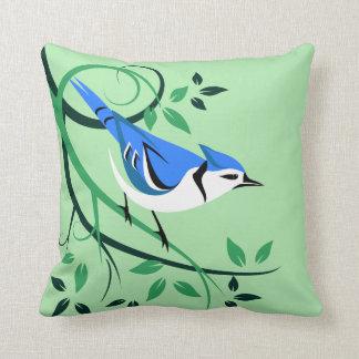 Almohadas del amante del arrendajo azul
