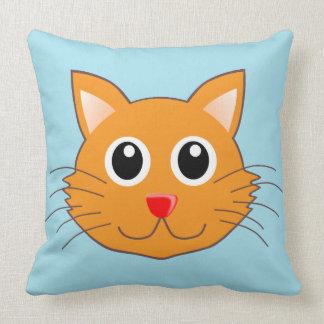 Almohadas populares de la cara del gato grande