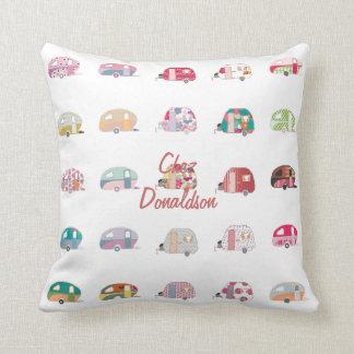 Almohadas retras personalizadas del diseño de la