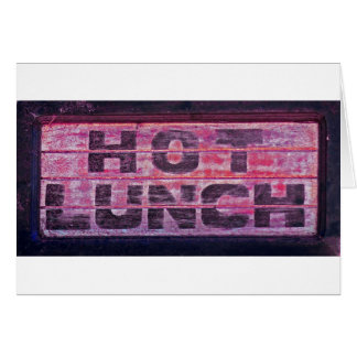 Almuerzo caliente 2 felicitacion