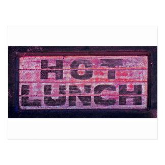 Almuerzo caliente 2 postales