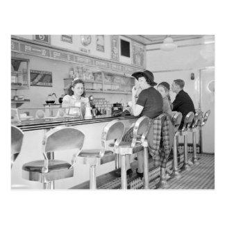 Almuerzo Counter 1941 Postales