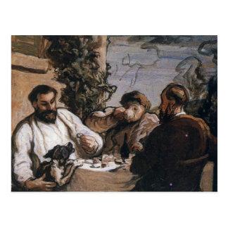 Almuerzo de Honore Daumier- en el país Tarjetas Postales