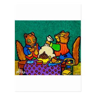 Almuerzo de las ardillas por Piliero Postal