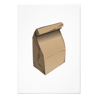 Almuerzo de saco anuncios personalizados
