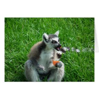 Almuerzo del Lemur Tarjeta De Felicitación