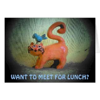 Almuerzo en mi mente felicitacion