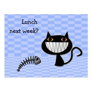 ¿almuerzo la semana próxima? tarjetas postales