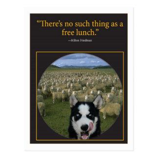 Almuerzo libre tarjetas postales