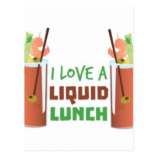 Almuerzo líquido postal