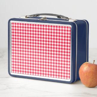 Almuerzo metalizado azul Blox del modelo rojo