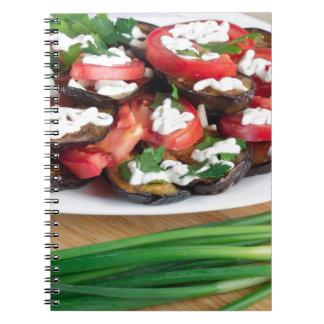 Almuerzo para un vegetariano cuaderno