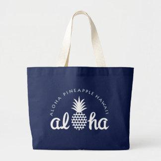 aloha pineapple hawaii bag bolso de tela grande