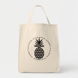 aloha pineapple hawaii shoppingbag bolso de tela