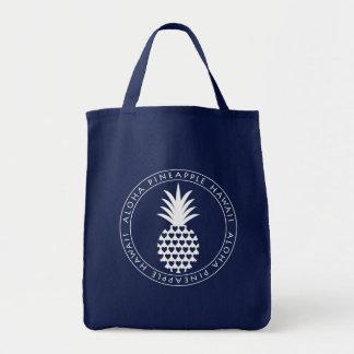 aloha pineapple tote bolso de tela