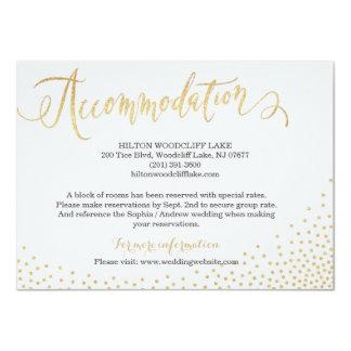 Alojamiento Editable de la caligrafía del brillo Invitación 11,4 X 15,8 Cm