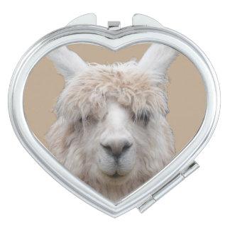 Alpaca del espejo compacto adaptable de Perú