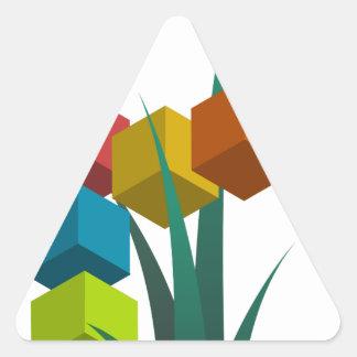 alphabep pegatina triangular