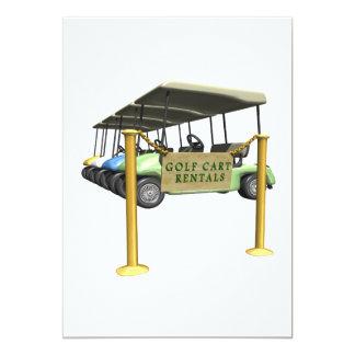 Alquileres del carro de golf invitación 12,7 x 17,8 cm
