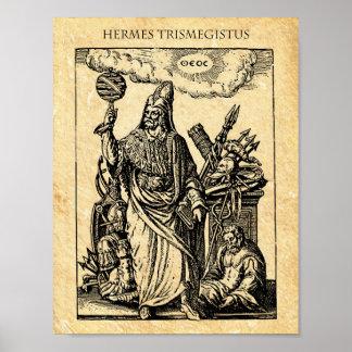 ALQUIMIA HERMES TRISMEGISTUS PÓSTER