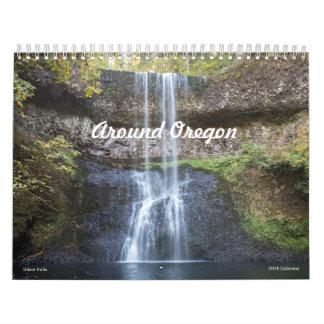 Alrededor del calendario de Oregon 2018