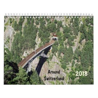alrededor del calendario de Suiza 2018