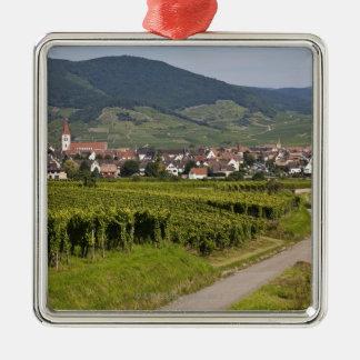 Alsacia, Francia Adorno Cuadrado Plateado