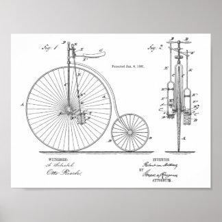 Alta impresión 1885 del arte de la patente de la