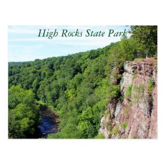 Alta postal del parque de estado de las rocas