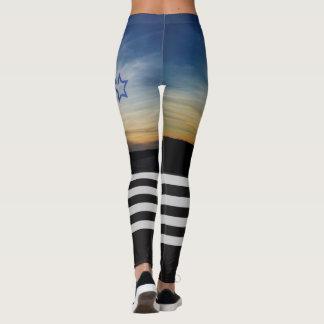 Alta puesta del sol de la rodilla leggings