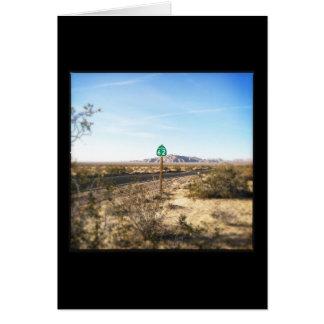 Alta tarjeta de nota de la carretera del desierto
