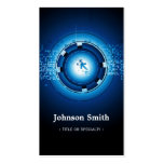 Alta tecnología azul marino moderna tarjeta de visita