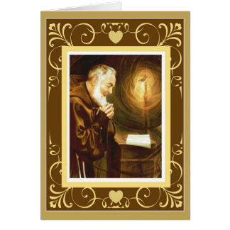 Altar del crucifijo del sacerdote del St. Padre Tarjeta De Felicitación